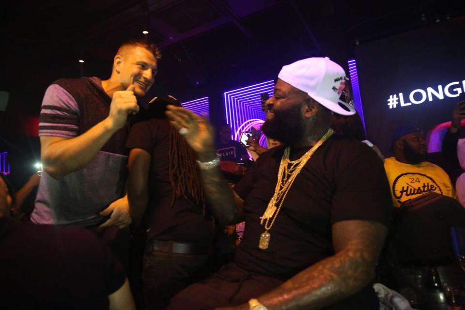 Rob Gronkowski and Rick Ross at the Rockwell in Miami.