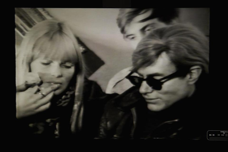 Guests on the show included the singer Nico (left) and Andy Warhol (right).