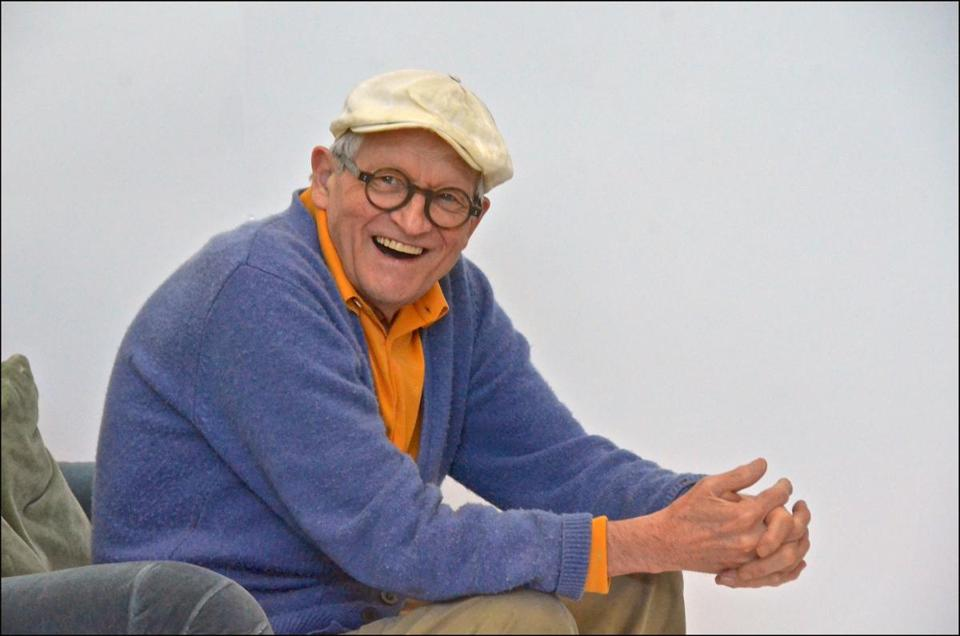 "David Hockney talking about his craft in the film ""David Hockney at the Royal Academy of Arts."""