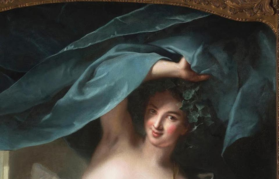 """Thalia, Muse of Comedy,"" a 1739 painting, is among the works featured in a new Casanova exhibition."