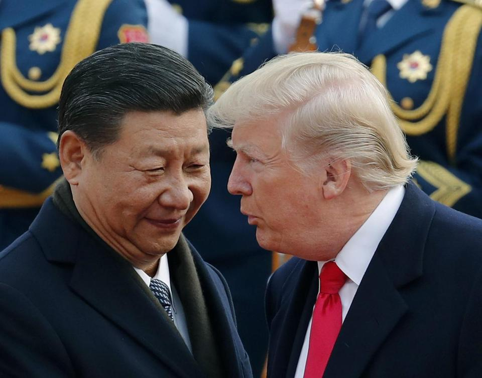 President Trump chatted with Chinese President Xi Jinping during his visit to Beijing last year.
