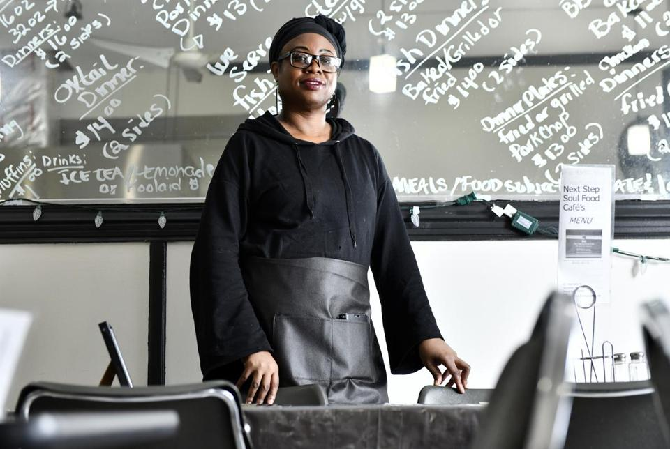 Michelle White of Next Step Soul Food Cafe in Dorchester.