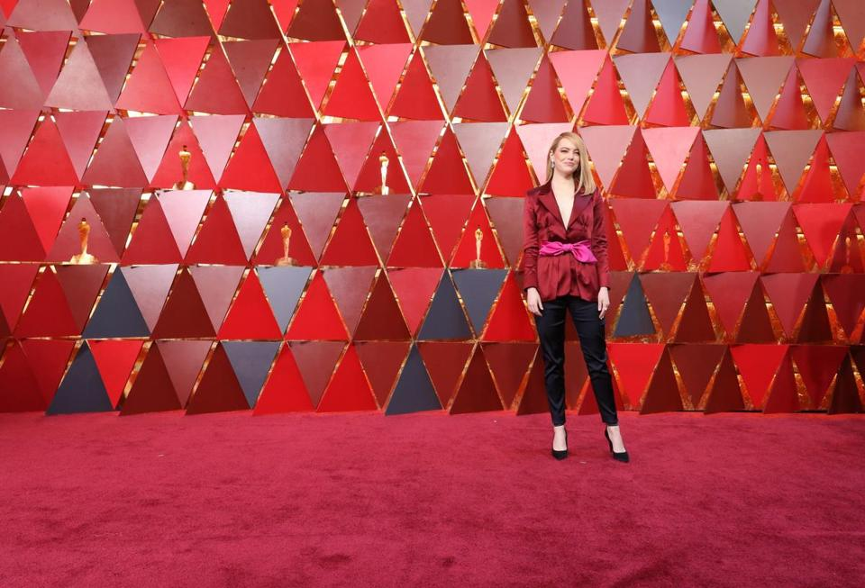 HOLLYWOOD, CA - MARCH 04: Emma Stone attends the 90th Annual Academy Awards at Hollywood & Highland Center on March 4, 2018 in Hollywood, California. (Photo by Neilson Barnard/Getty Images)