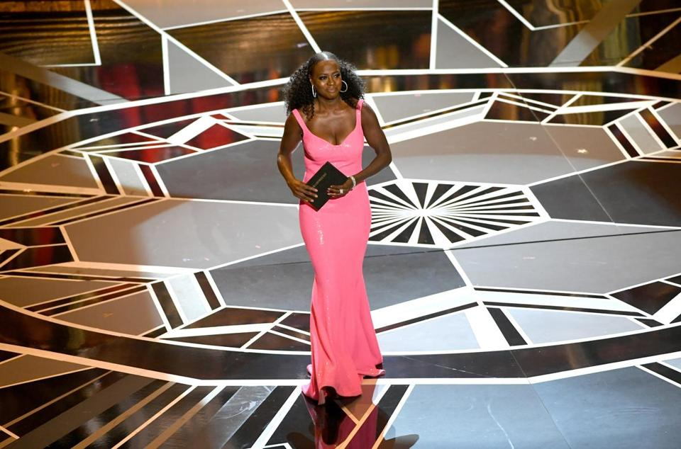 Actor Viola Davis walks onstage during the 90th Annual Academy Awards. (Photo by Kevin Winter/Getty Images)