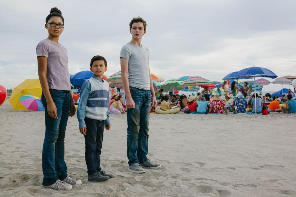 "Storm Reid, Deric McCabe, and Levi Miller in ""A Wrinkle in Time."""