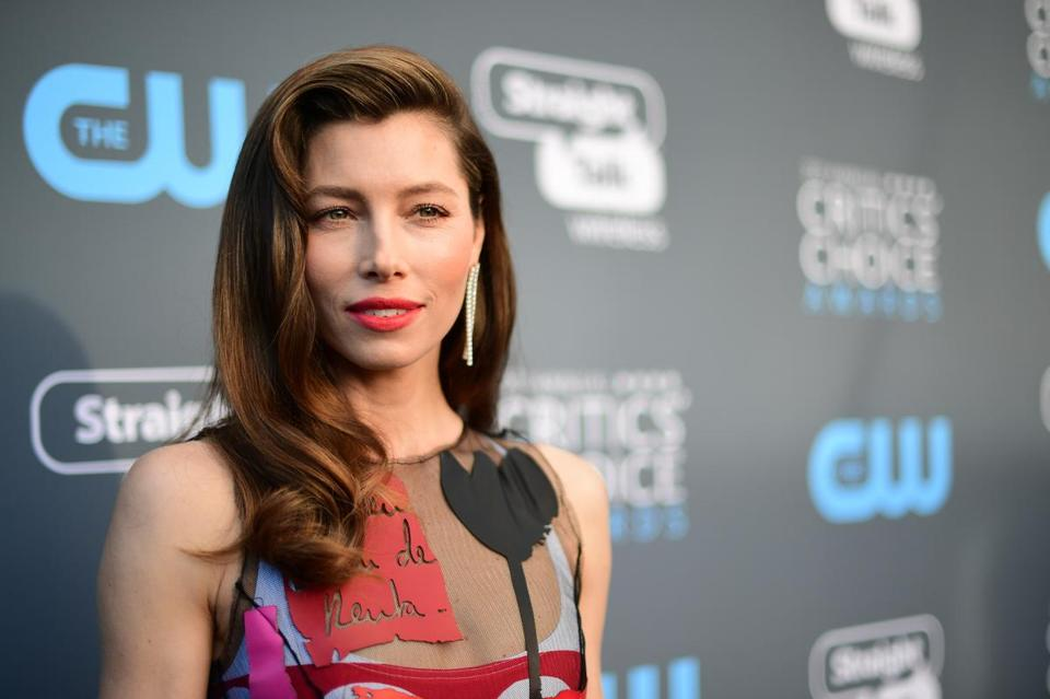 """Elodie, this one's for you?"" Jessica Biel said before jumping into a pool with her clothes on."