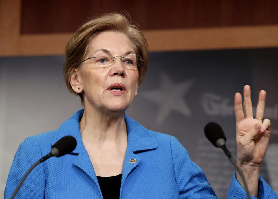 Senator Elizabeth Warren of Massachusetts expressed her opposition to efforts to roll back some bank regulations.
