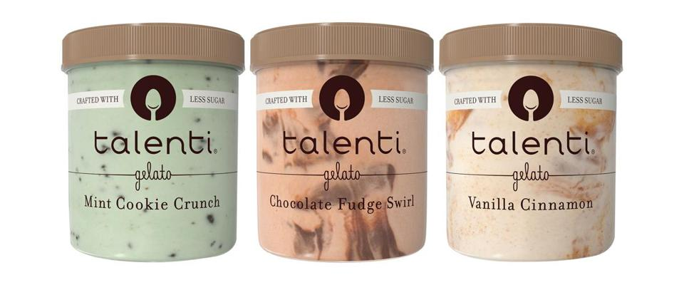 Talenti uses a sugar substitute, erythritol, a sugar-alcohol, in its frozen dessert. It also adds sweetness with monk fruit.