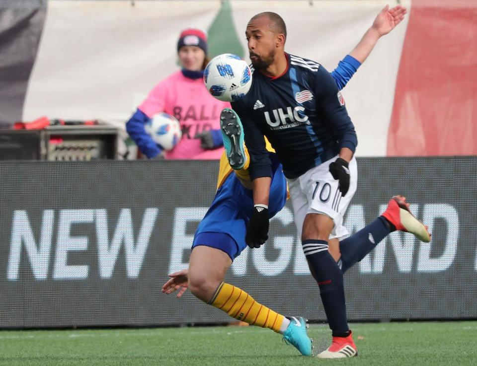 Teal Bunbury, shown in a game in March, scored New England's only goal on Saturday.