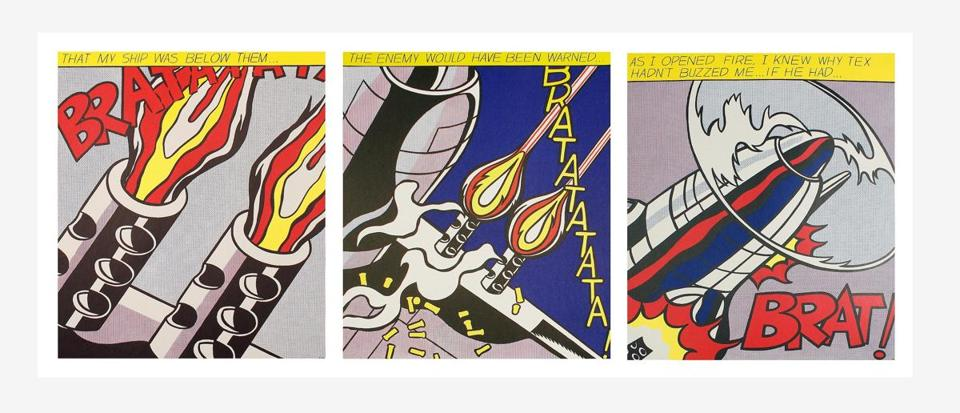 "Roy Lichtenstein's ""As I Opened Fire"" is part of ""Killers & Thrillers"" at Kabinett."
