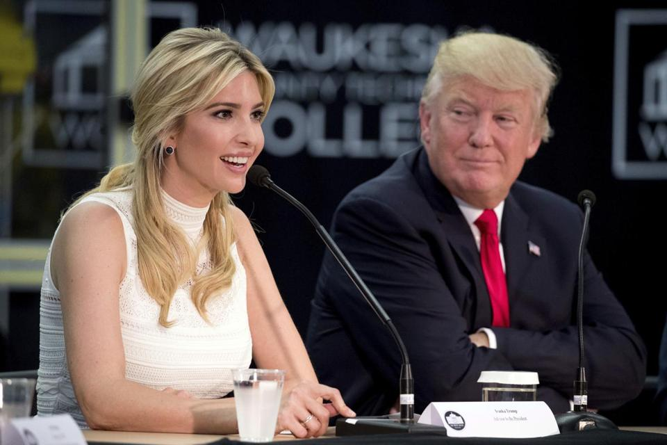Ivanka Trump (left) likes to be in complete control, in contrast to her freewheeling and impulsive father.