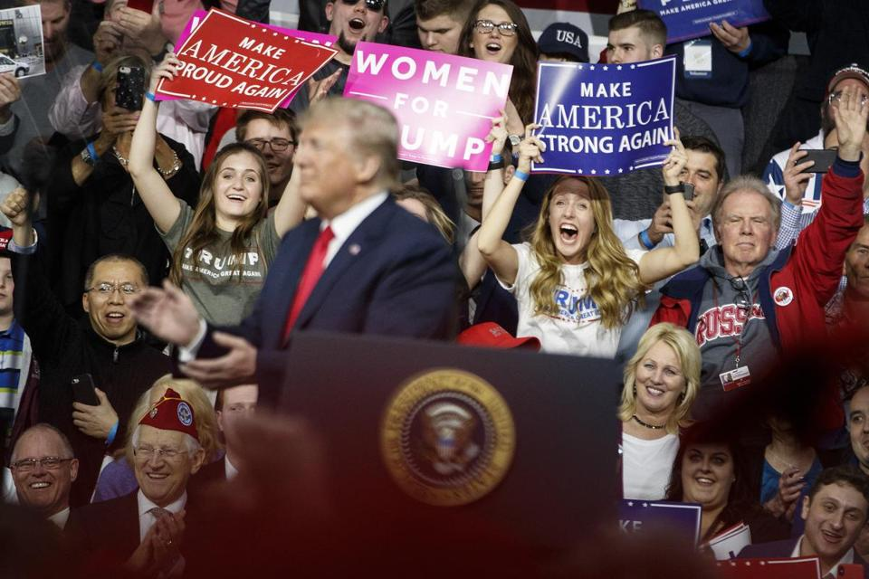 President Trump spoke Saturday at a rally in support of Rick Saccone, the Republican candidate in a House race in Pennsylvania.