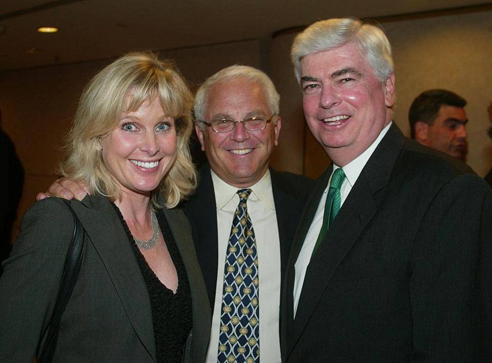 Former US senator Chris Dodd (right), a longtime friend, says he checks in with Friedman about once a week. Above: Friedman and Dodd at a 2003 event..