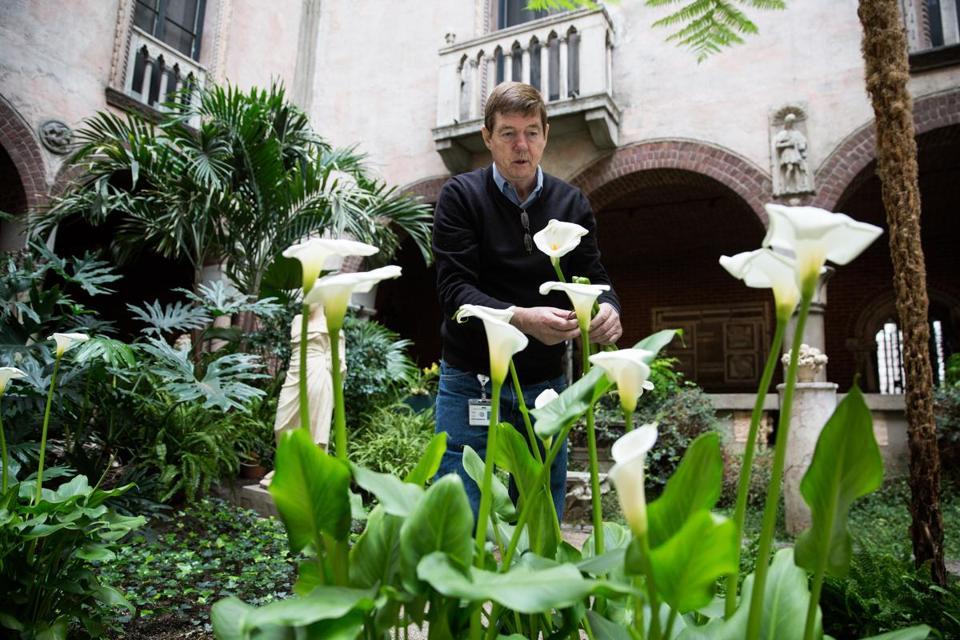 Stan Kozak, Chief Horticulturist At Bostonu0027s Isabella Stewart Gardner Museum,  Trimmed Flowers In The