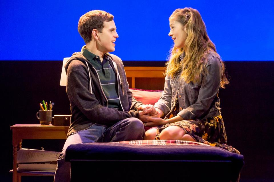 "Taylor Trensch and Laura Dreyfuss in ""Dear Evan Hansen."" MUST CREDIT: Matthew Murphy"