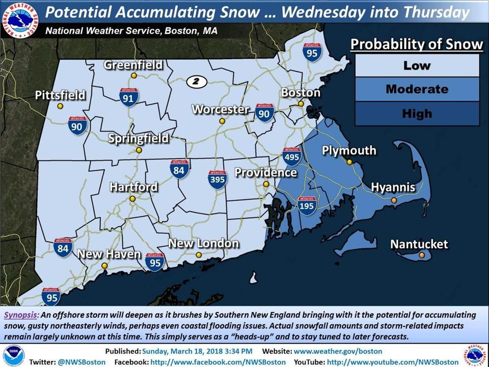 Everything You Need To Know About The Potential Midweek Noreaster