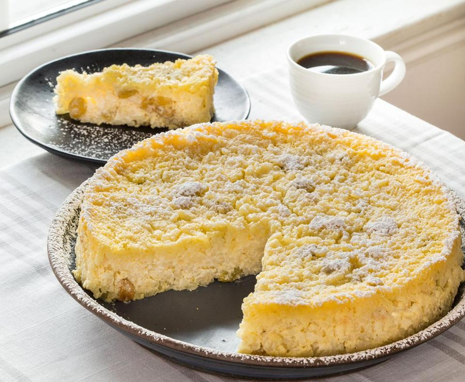 Bolognese-Style Sweet Rice Cake With Lemon and Raisins (Torta di Riso).