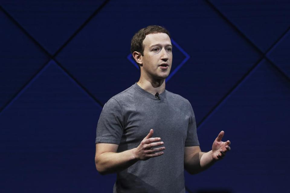 Facebook founder Mark Zuckerberg speaks at a conference in San Jose, Calif., in 2017. Cambridge Analytica scraped up Facebook data from more than 50 million people.