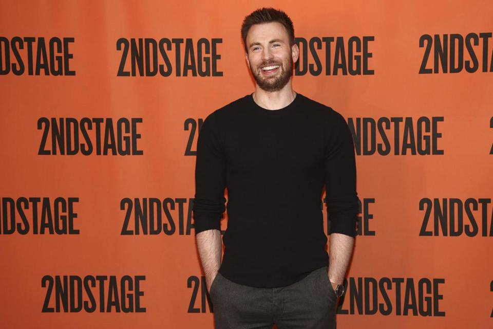 Chris evans on his love of tap dancing captain america and his chris evans attends the lobby hero broadway press meet and greet at sardis on m4hsunfo