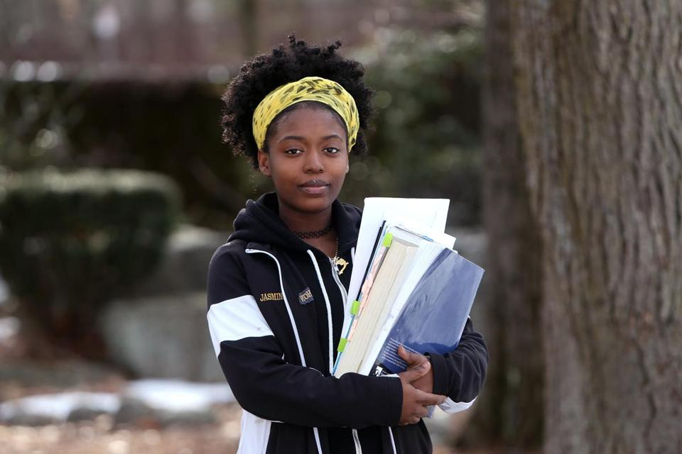 Jasmine Cardichon, 18, of Mattapan, a senior at Latin Academy, hedged her bets by applying to 19 schools.