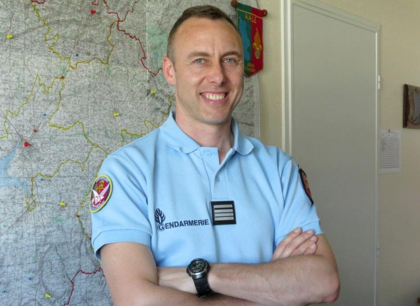 A picture taken in 2013 in Avranches and obtained from La Gazette de la Manche local newspaper on March 24, 2018 shows French Lieutenant Colonel Arnaud Beltrame who was killed after swapping himself for a hostage in a rampage and siege in the town of Trebes, southwestern France, on March 23. Beltrame, 45, was among a group of officers who rushed to the scene in Trebes, near Carcassone, on March 23 after a gunman who claimed allegiance to the Islamic State group, stormed a supermarket and fired at shoppers. Beltrame offered to take the place of a woman the gunman had taken hostage and was shot. He died on March 24 of his wounds, becoming the gunman's fourth victim. / AFP PHOTO / LA GAZETTE DE LA MANCHE / --/AFP/Getty Images