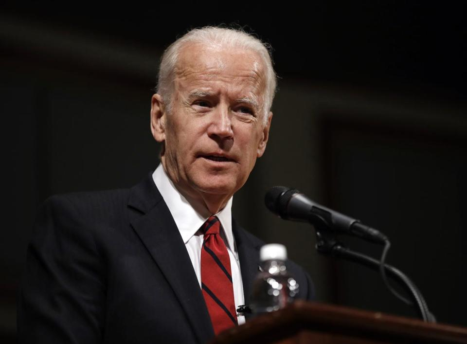 "FILE - In this March 13, 2017 file photo, former Vice President Joe Biden speaks during an event to formally launch the Biden Institute at the University of Delaware, in Newark, Del. Biden's memoir is coming out Nov. 14 and will be called ""Promise Me, Dad: A Year of Hope, Hardship, and Purpose."" The book centers on 2015, when his son Beau died and he decided not to run for president even though he believed he could win. (AP Photo/Patrick Semansky, File)"