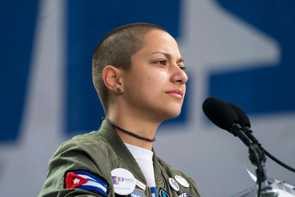 Emma Gonzalez spoke at Washington, D.C.'s March for Our Lives on March 24.