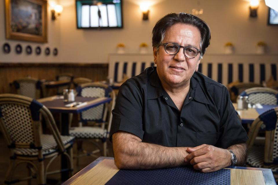 03/28/2018 WALTHAM, MA Owner Ali Nowrouzi (cq) poses for a photo at The Grill in Waltham. (Aram Boghosian for The Boston Globe)