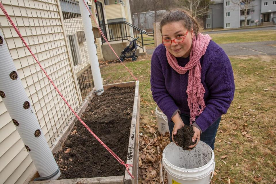 Rebecca Martin used some of the money from the Healthy Incentives Program to start her own garden.