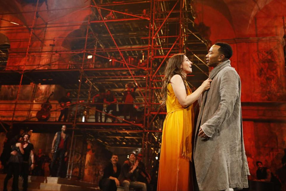 "Sara Bareilles as Mary Magdalene and John Legend as Jesus in ""Jesus Christ Superstar Live in Concert."""