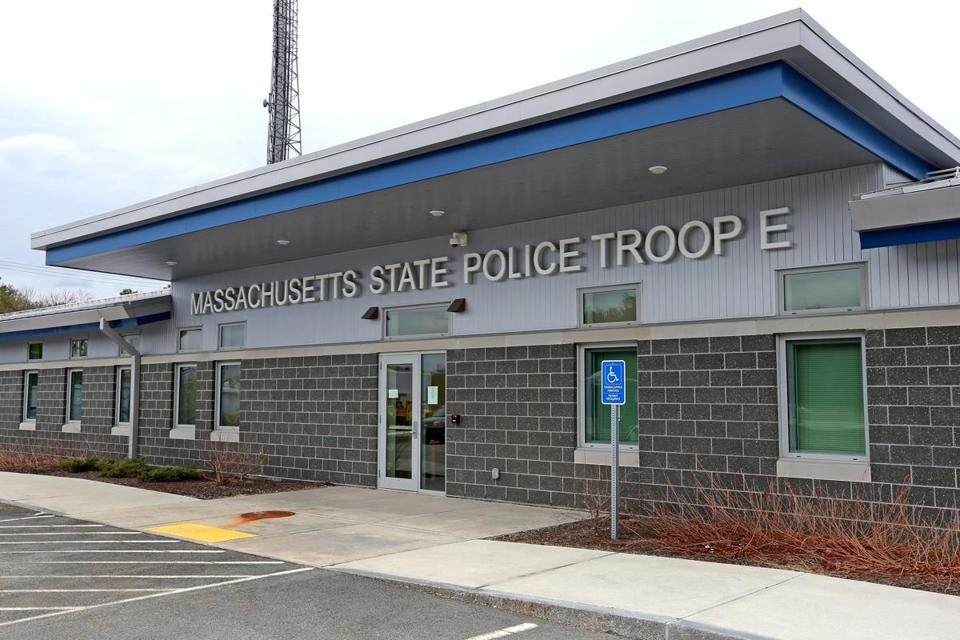 WESTON, MA - 4/03/2018: Massachusetts State Police Troop E.... State Police Weston Barracks on Masachusetts Turnpike. (David L Ryan/Globe Staff ) SECTION: METRO TOPIC