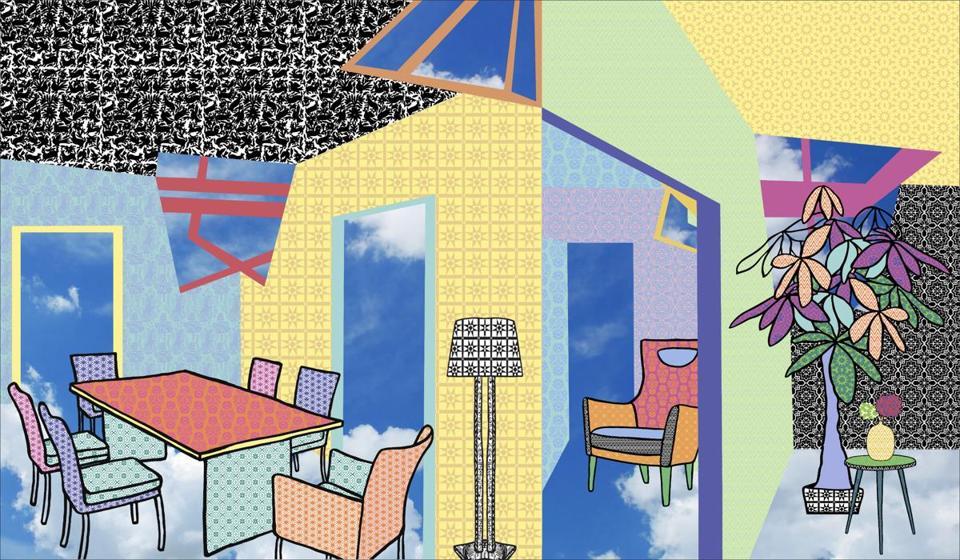 A Detail Of Hybrid Digital Home By Saya Woolfalk And Daughter Aya
