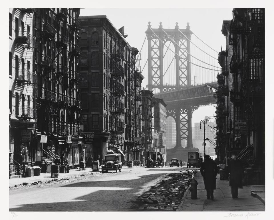 "Berenice Abbott's ""Henry Street from New York."""