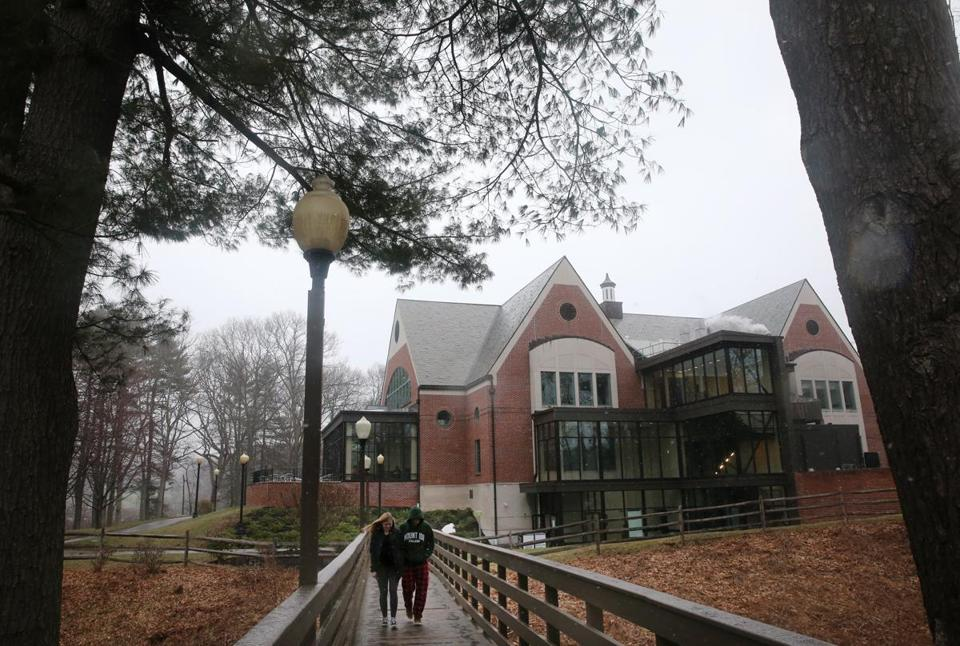 The campus center at Mount Ida College in Newton.