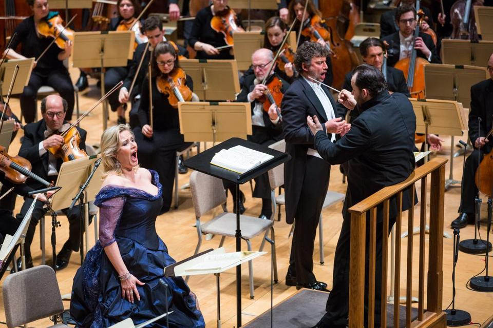 "Andris Nelsons leads the BSO, Camilla Nylund, and Jonas Kaufmann in Act II of Wagner's ""Tristan und Isolde"" at Symphony Hall."