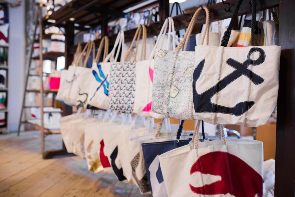 Totes at Sea Bags on Newbury Street.