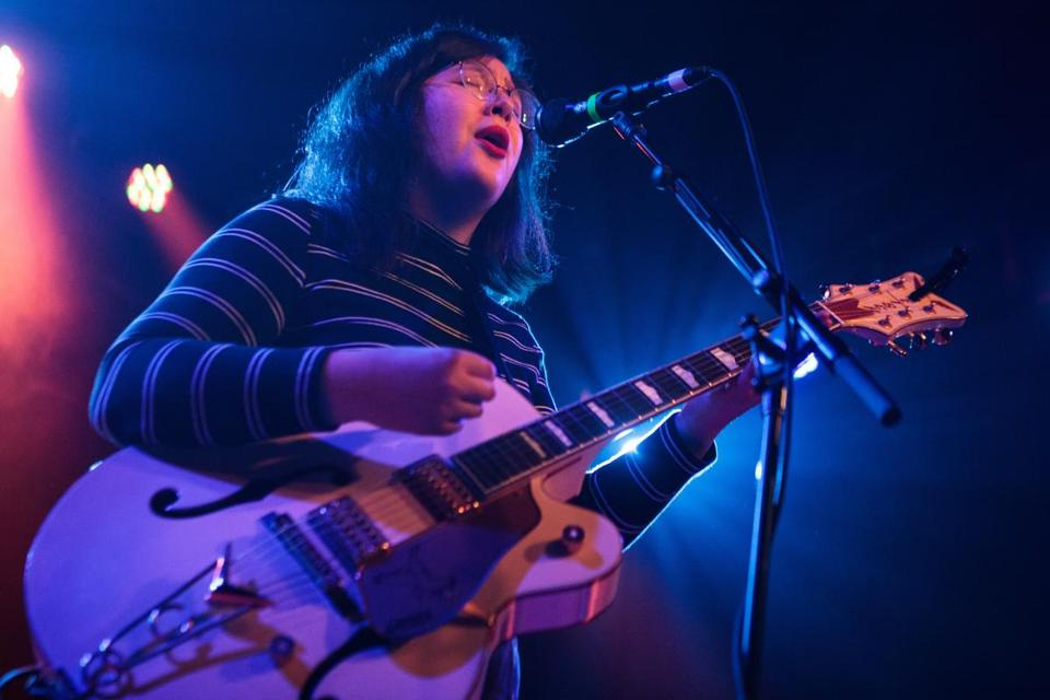 Lucy Dacus performs at the Sinclair.
