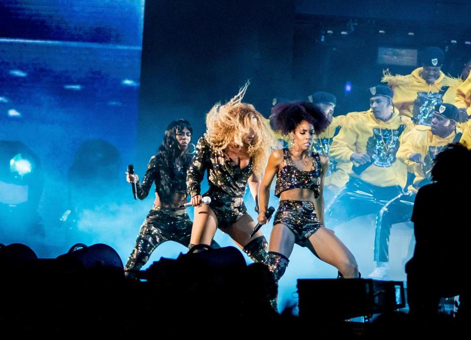 Beyonce performs with the original members of Destiny's Child Saturday during the Coachella Music and Arts Festival in Indio, California, April 14, 2018. / AFP PHOTO / Kyle GrillotKYLE GRILLOT/AFP/Getty Images