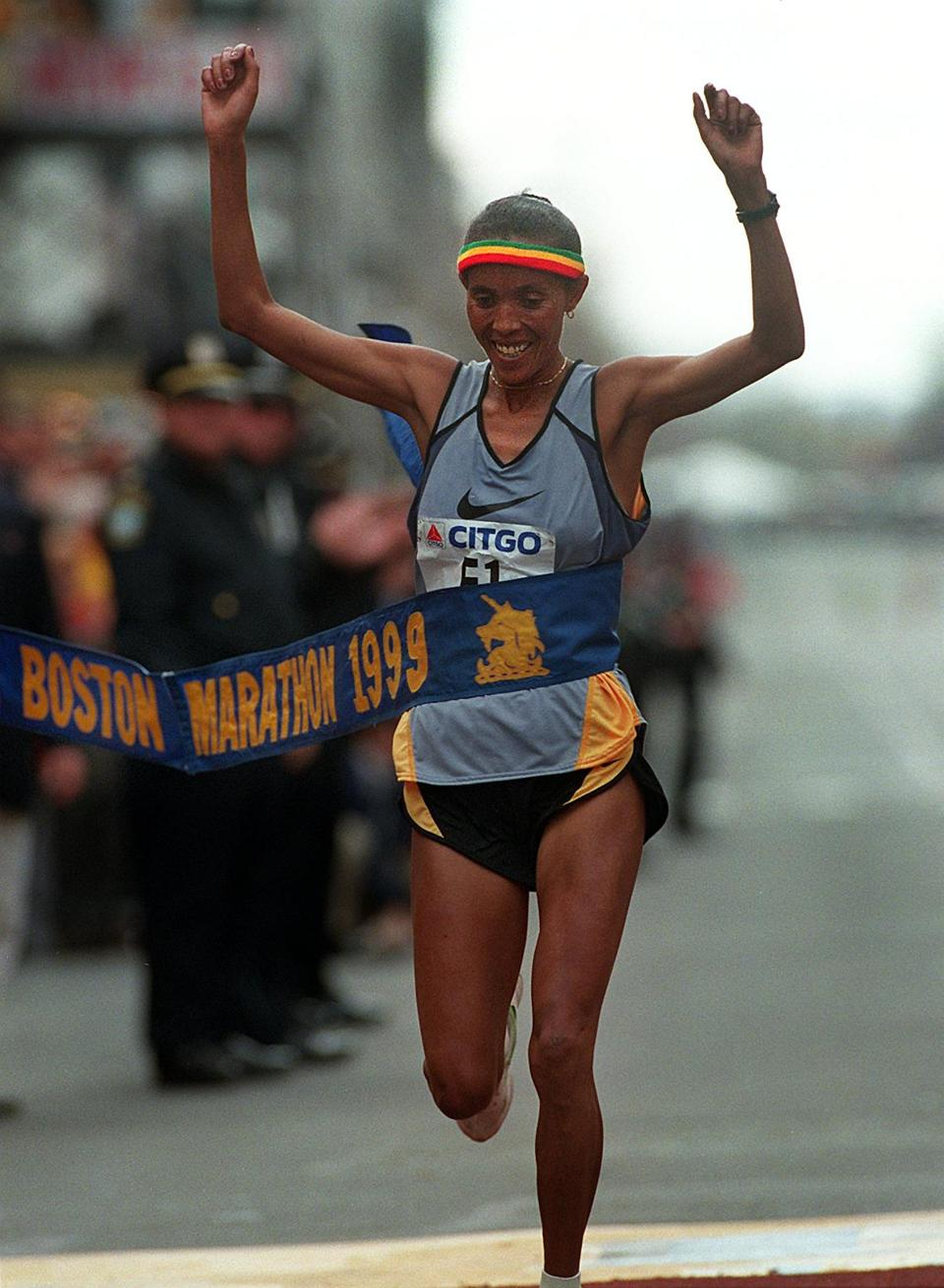 Fatuma Roba, winner in 1997, 1998, and 1999, hasn't run a marathon since 2004 but still does charity road races.