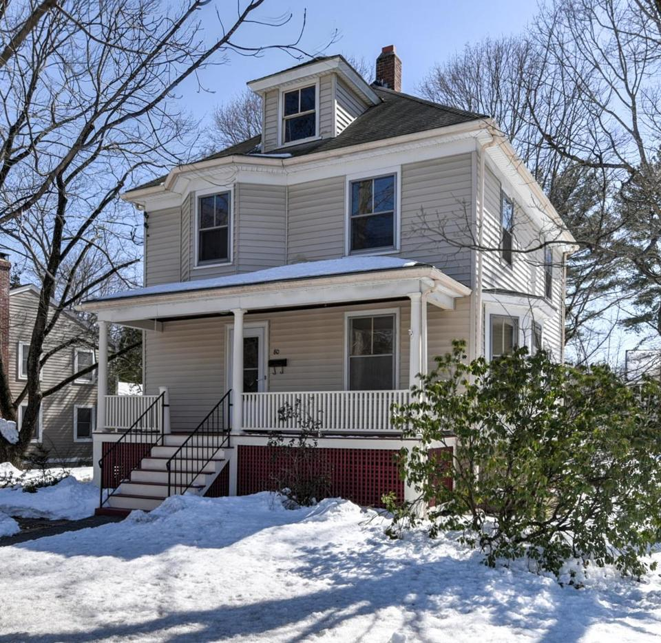 This house at 80 Spring Road in Needham is on the market for $800,000.