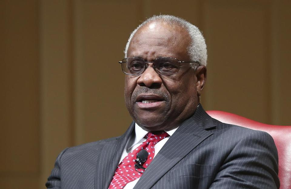 Clarence Thomas spoke in February at the Library of Congress.