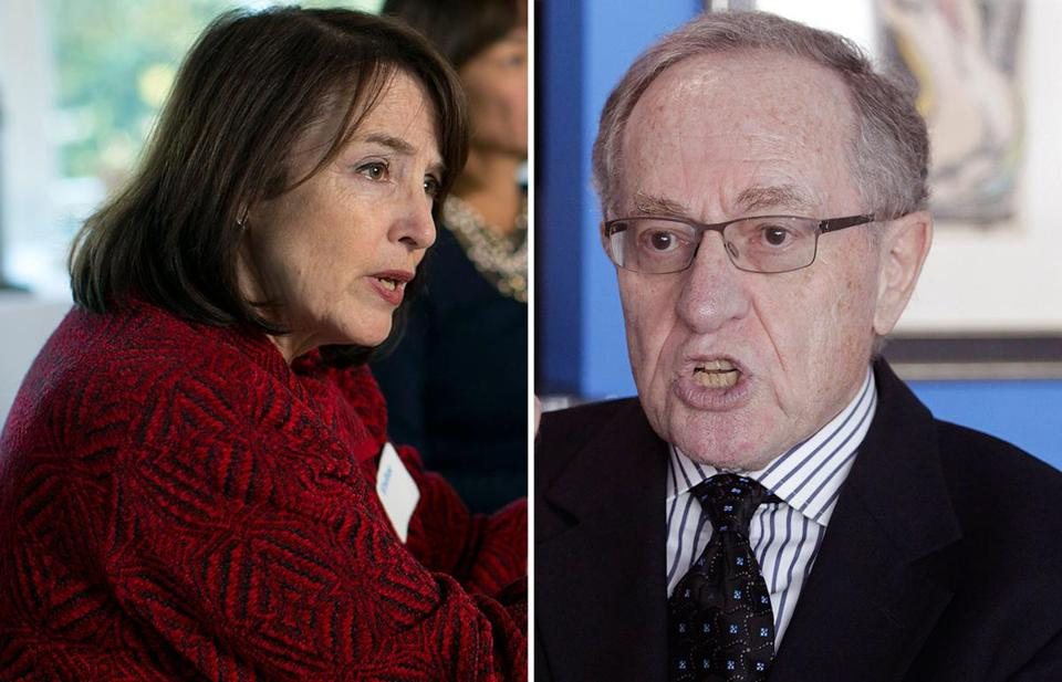 Nancy Gertner and Alan Dershowitz.