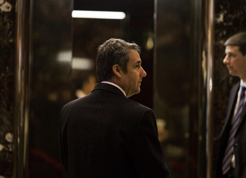 Michael Cohen arrived at Trump Tower in January 2017.