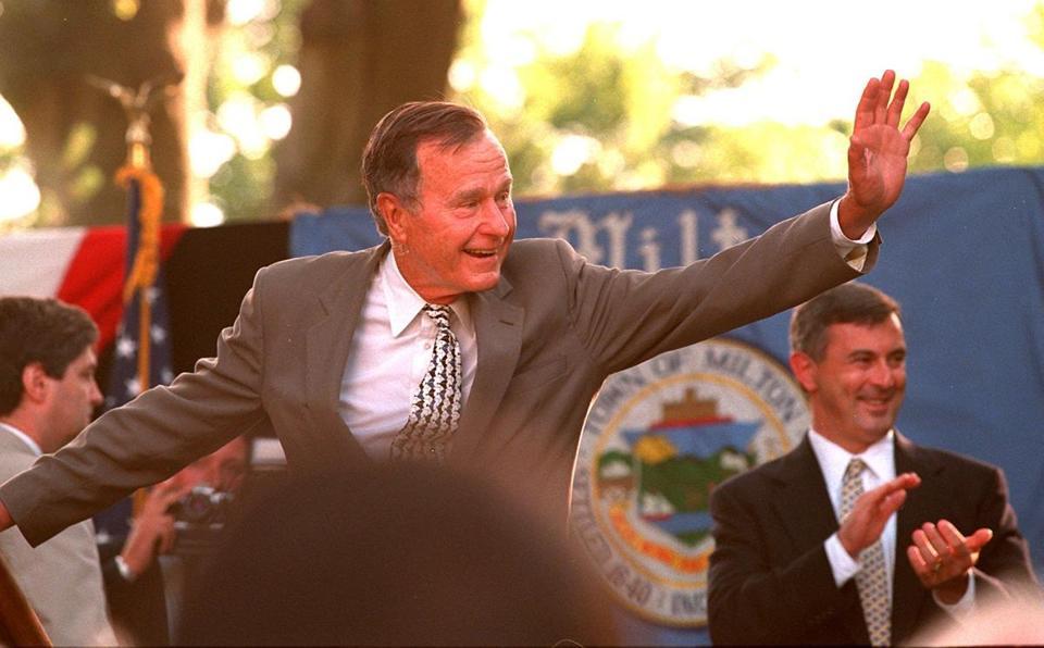 George H W Bush Born In Milton Welcomed Back Home The Boston Globe