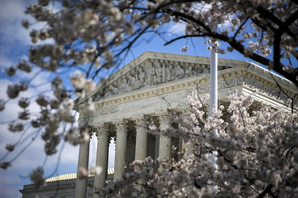 The U.S. Supreme Court building stands in Washington on April 10, 2018. MUST CREDIT: Bloomberg photo by Al Drago.