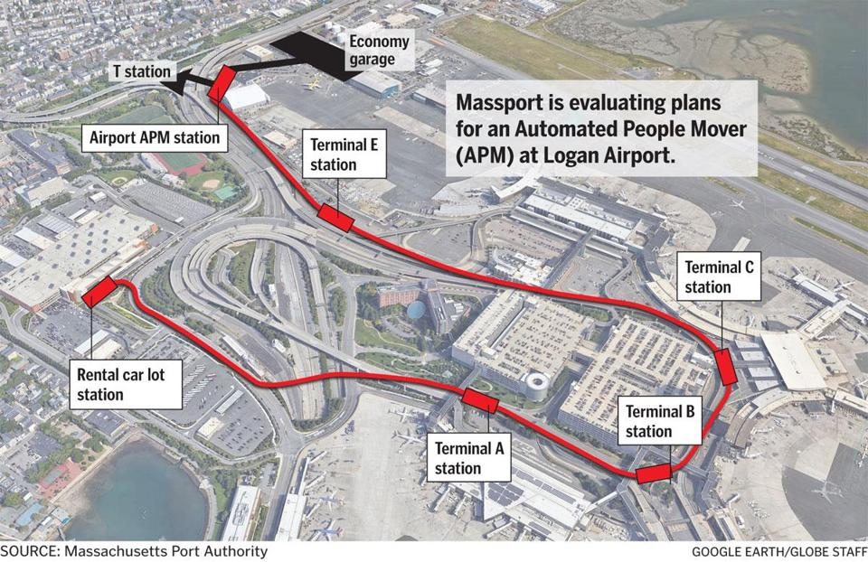 Logan Airport To Study Transit Link To Terminals And Mbta Station