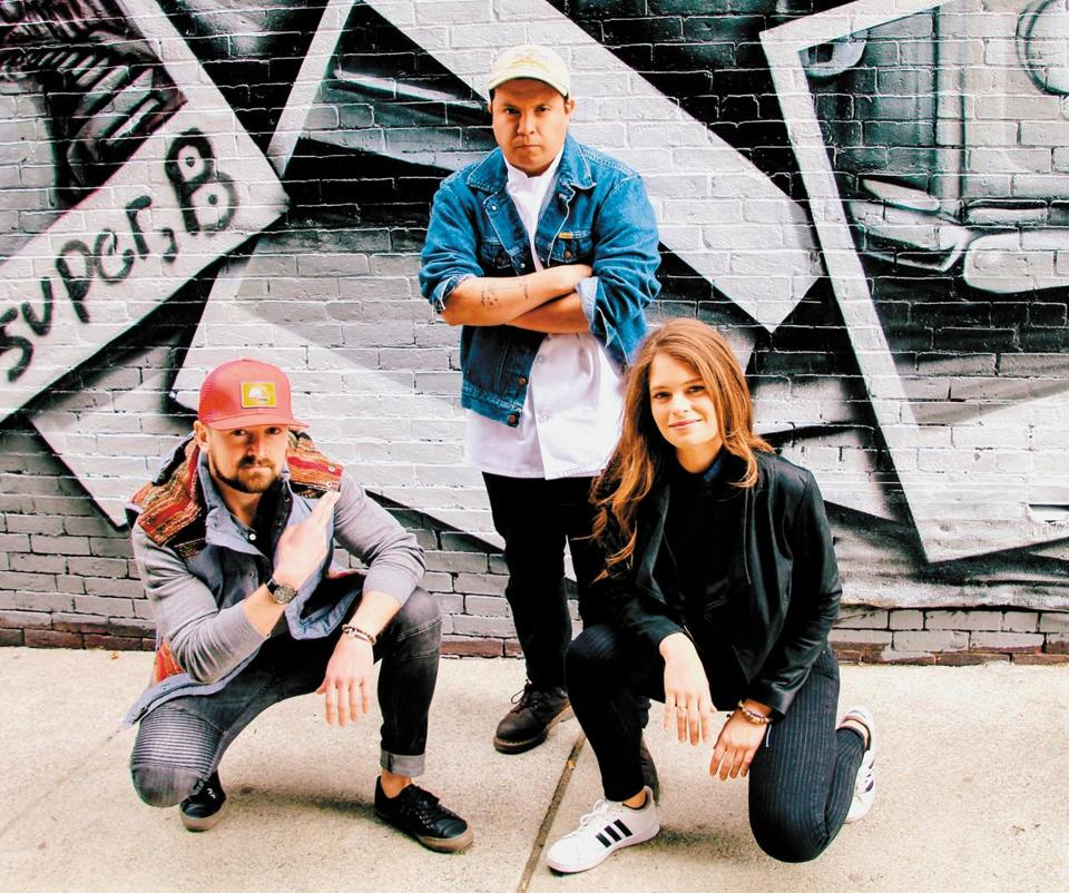 Rewild cofounders (from left) Pat McAuley, Will Hernandez, and Marissa Hughes.