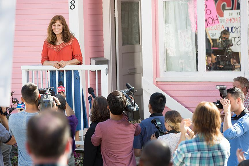 "Catherine Keener stars in ""Little Pink House."""