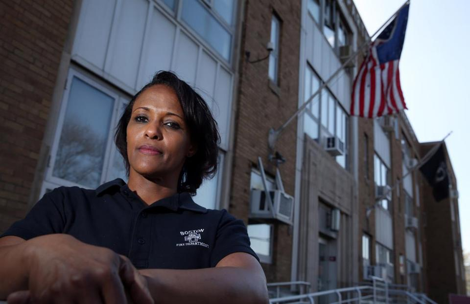 Yvette Ram said a Boston Fire Department personnel chief refused to accept some of her complaints.