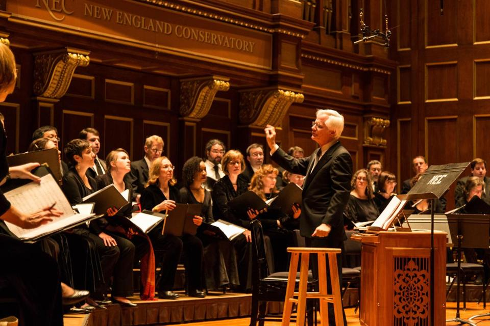 Cantata Singers and conductor David Hoose